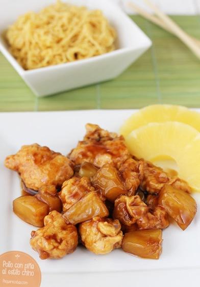 Pollo-con-piña-chino-Pequerecetas-